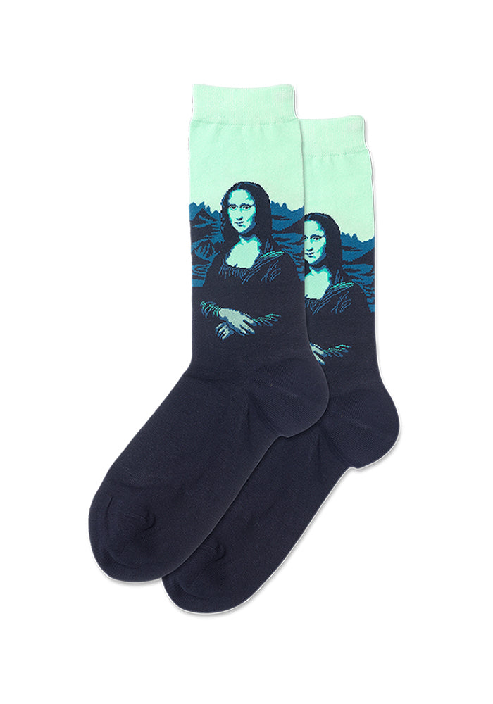 HOT SOX Da Vinci's Mona Lisa Women's Socks - Mint Green