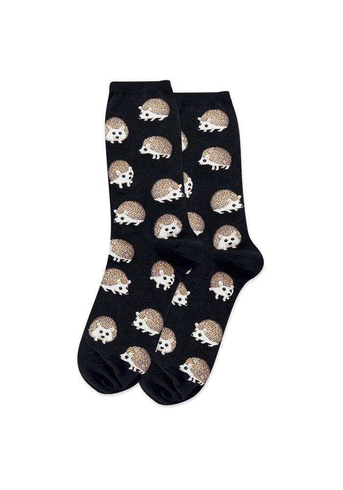 HOT SOX Hedgehog Women's Socks - Black