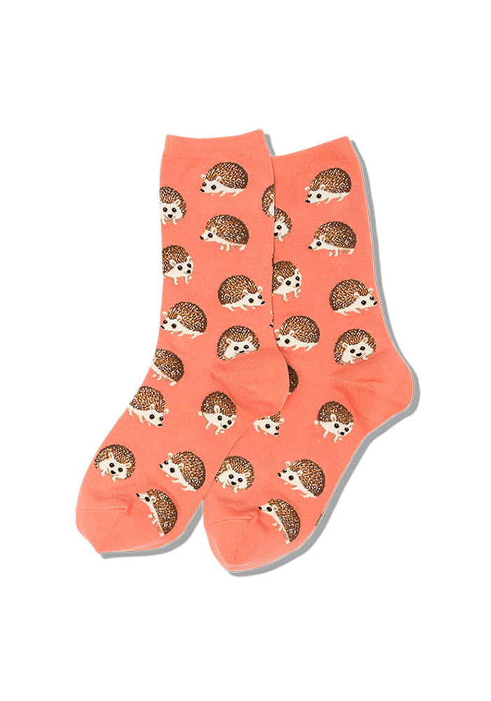 HOT SOX Hedgehog Women's Socks - Coral Pink