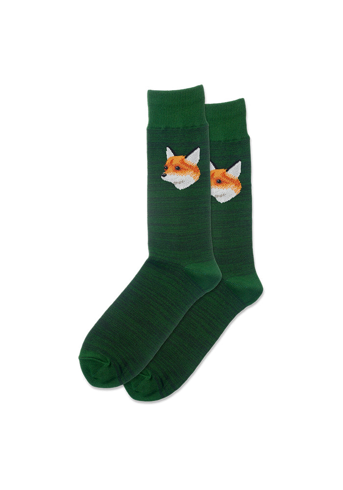 HOT SOX Mr. Fox Crew Socks - Green