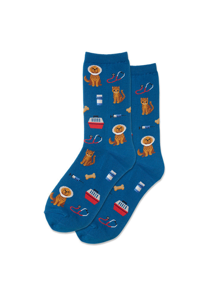 HOT SOX Veterinarian Women's Crew Socks - Teal