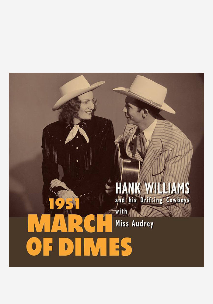 "HANK WILLIAMS March Of Dimes 10"" (Color)"