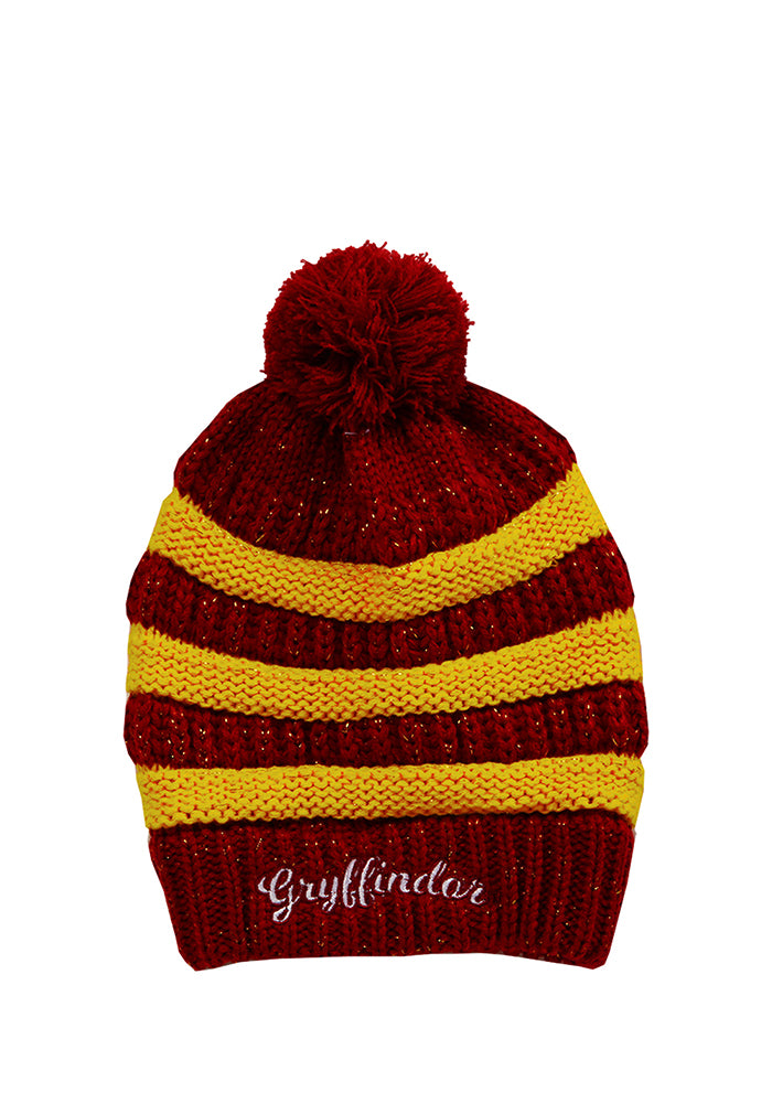 HARRY POTTER Gryffindor Stripe/Rib Pom Beanie