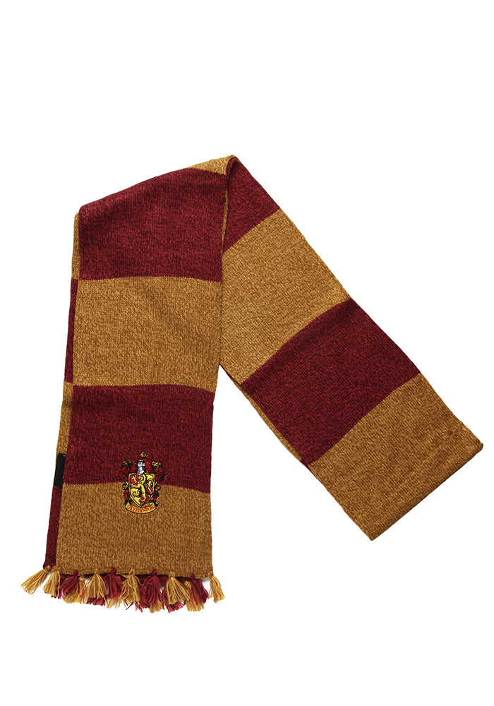 HARRY POTTER Gryffindor Stripes Patch Scarf