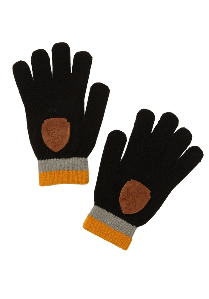 HARRY POTTER Hufflepuff Gloves With Crest