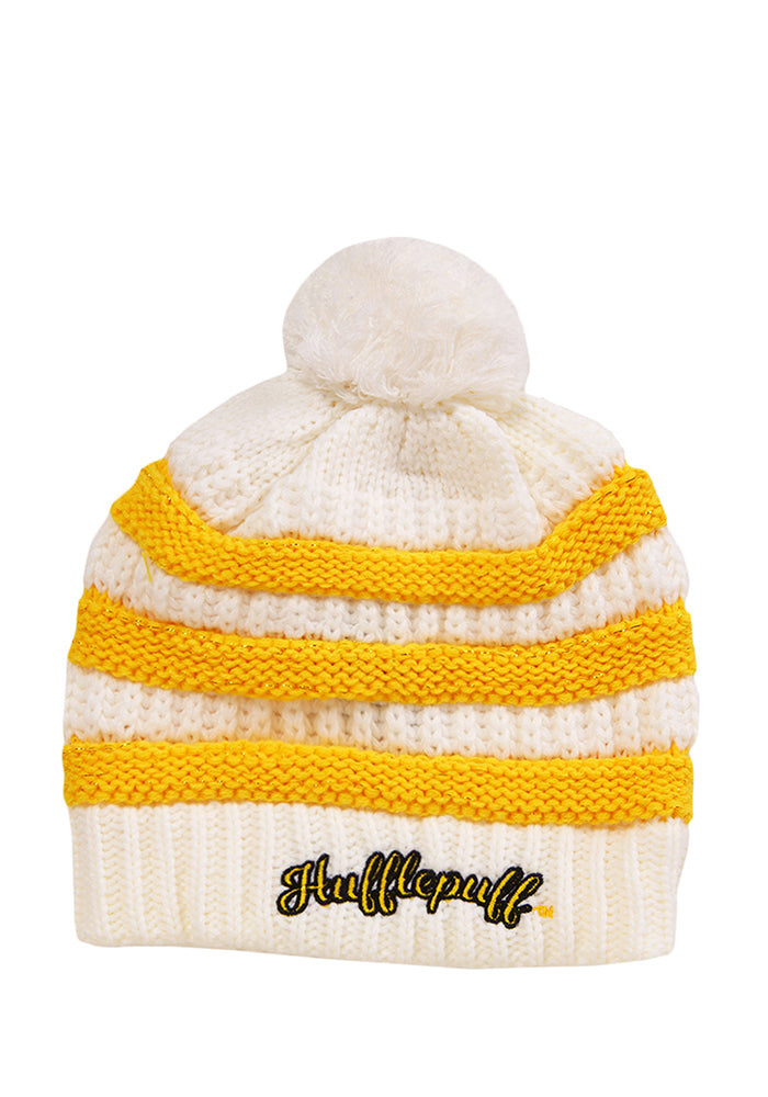 HARRY POTTER Hufflepuff Stripe/Rib Pom Beanie