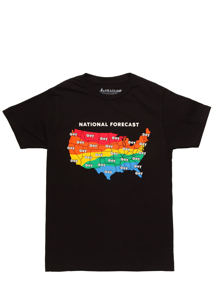 HEADLINE Gay Weather Forecast Pride T-Shirt
