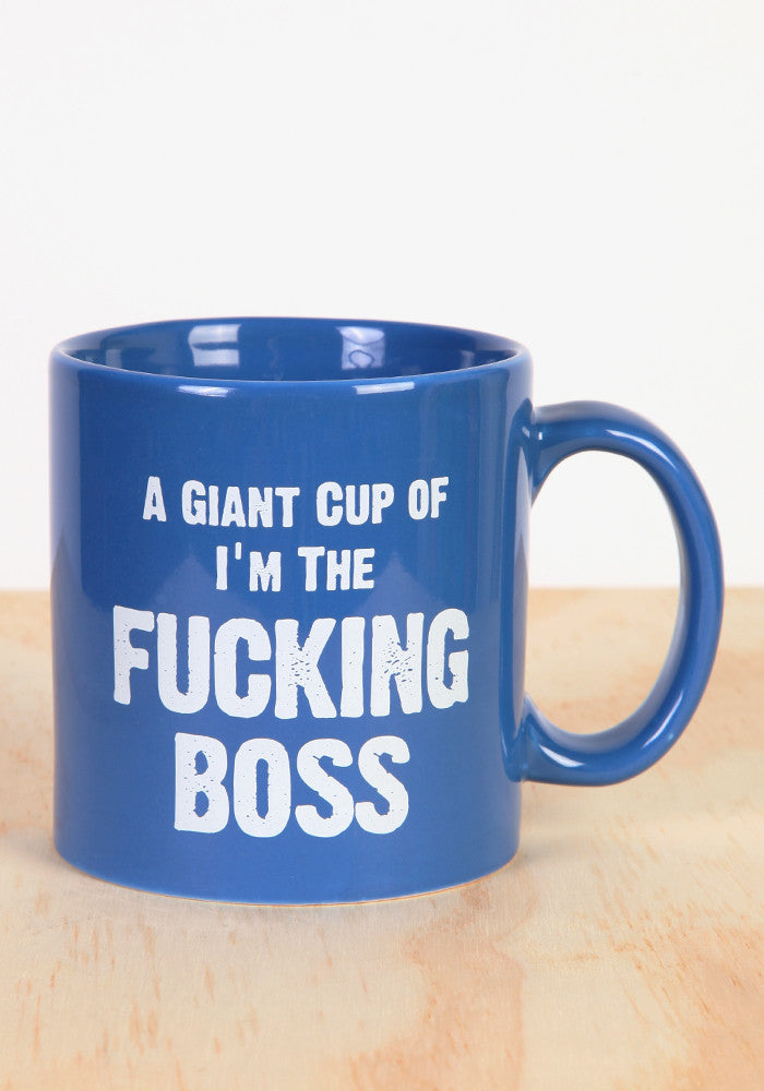 WICKED FUN MUGS I'm The Fucking Boss Giant Coffee Mug