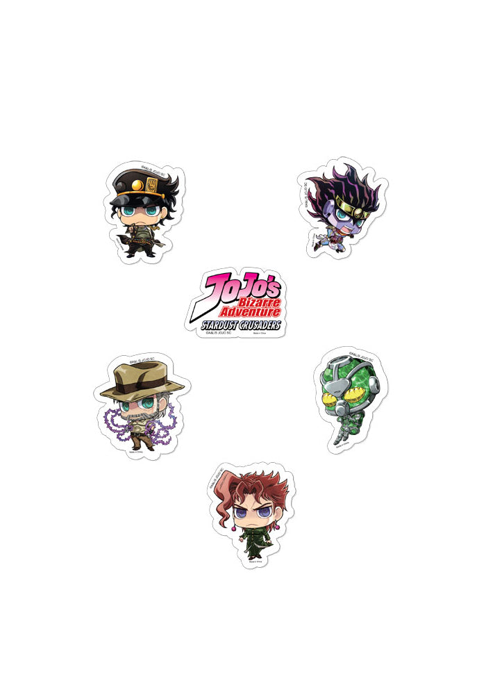 JOJO'S BIZARRE ADVENTURE JoJo's Bizarre Adventure Chibi Group Series 1 Die-Cut Sticker Set