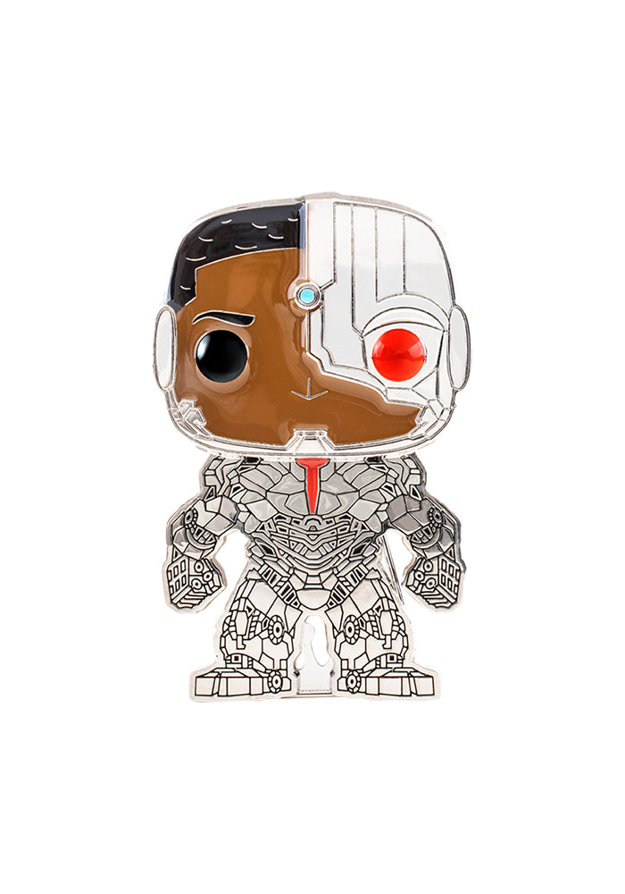 JUSTICE LEAGUE Funko Pop! 4-Inch Enamel Pin: DC Comics: Justice League - Cyborg