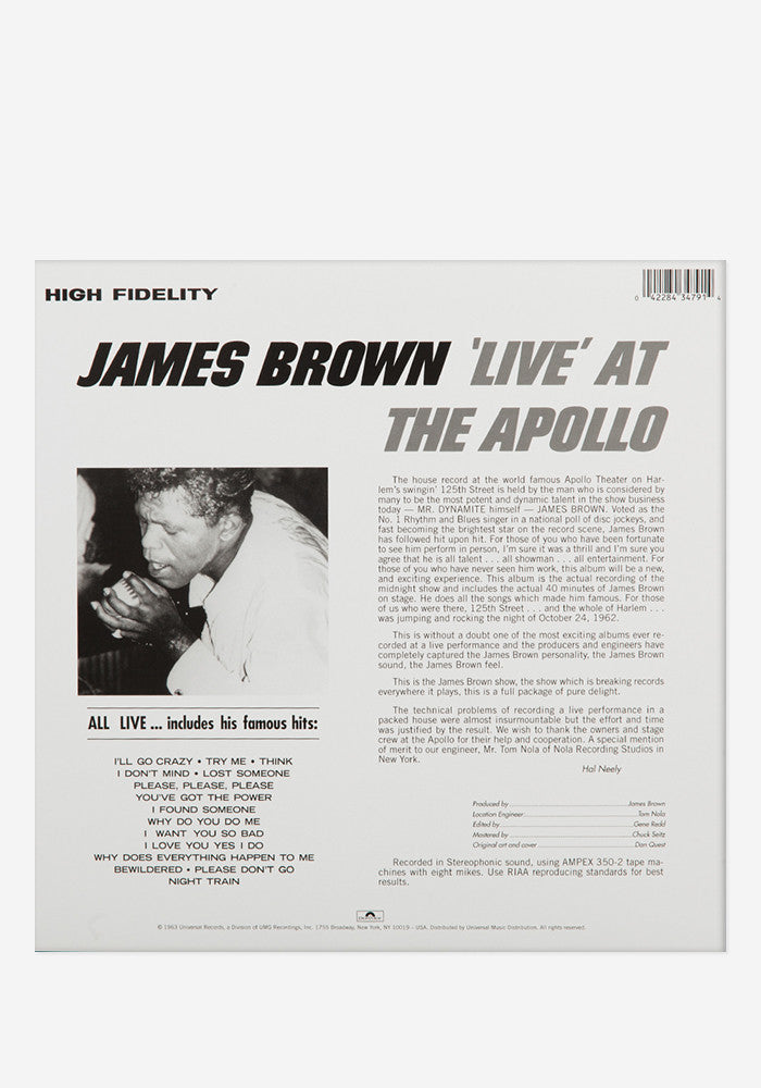 JAMES BROWN Live At The Apollo Exclusive LP