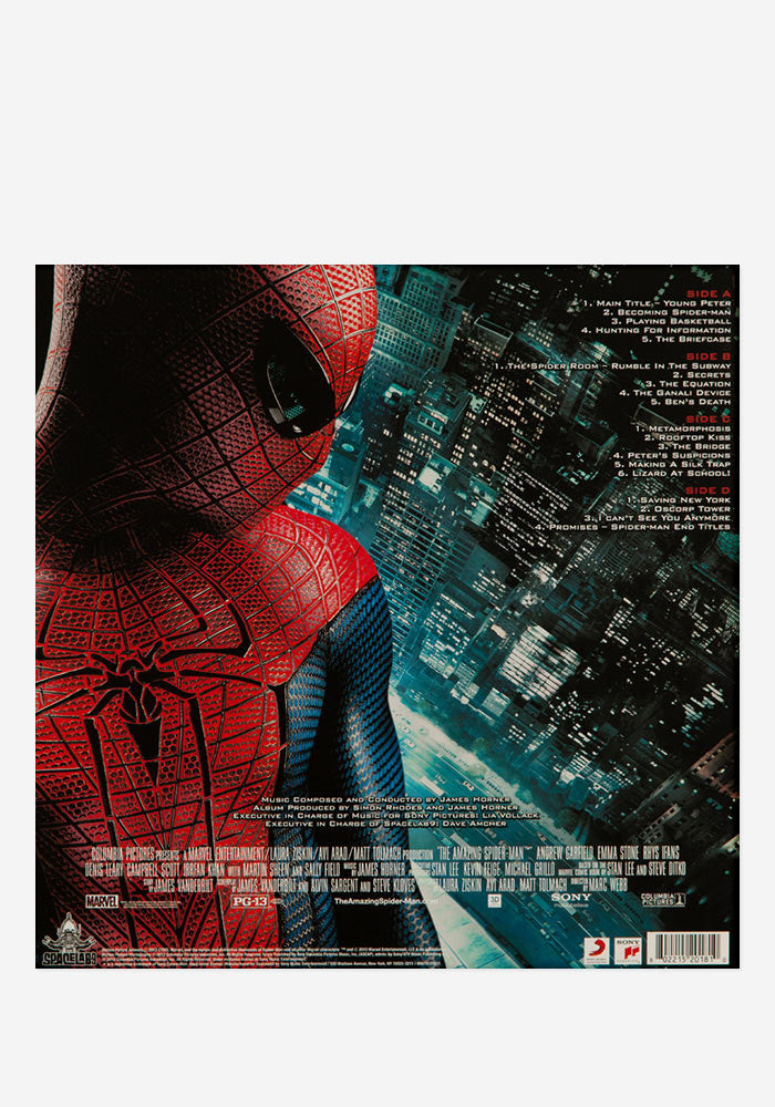 JAMES HORNER Soundtrack - The Amazing Spider-Man Exclusive 2 LP