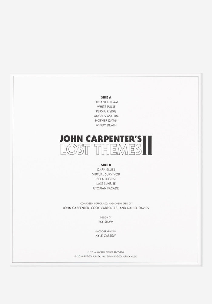 JOHN CARPENTER Lost Themes II Exclusive LP