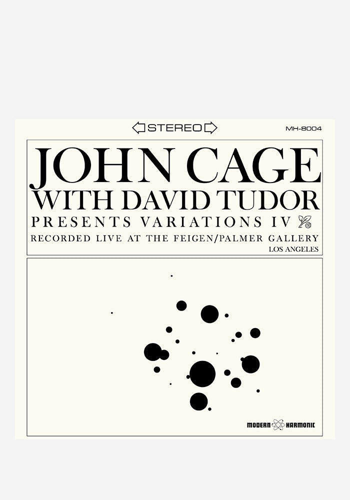 JOHN CAGE WITH DAVID TUDOR Variations IV LP