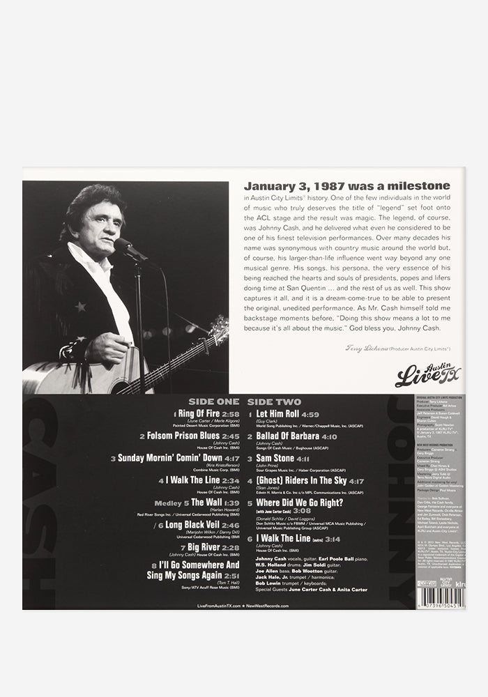 JOHNNY CASH Johnny Cash - Live From Austin, TX Exclusive LP
