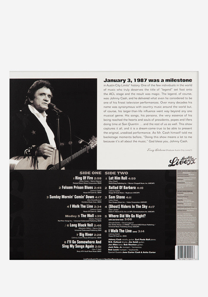 JOHNNY CASH Live From Austin, TX Exclusive LP