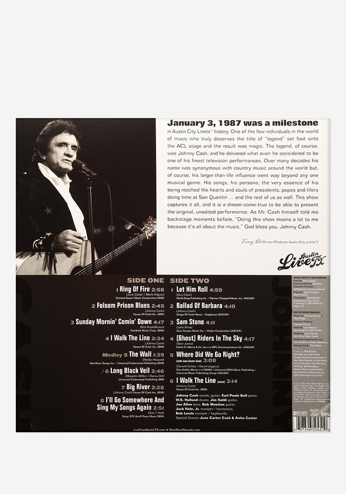 JOHNNY CASH Johnny Cash: Live From Austin, TX Exclusive LP