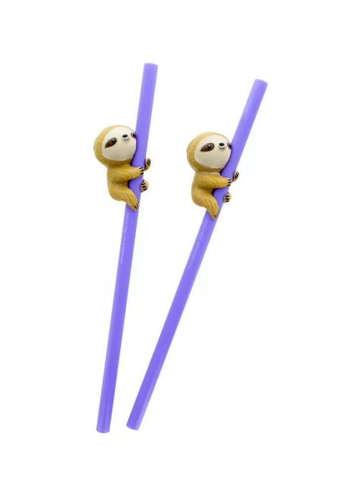 KAWAII Sloth Straws 2-Pack