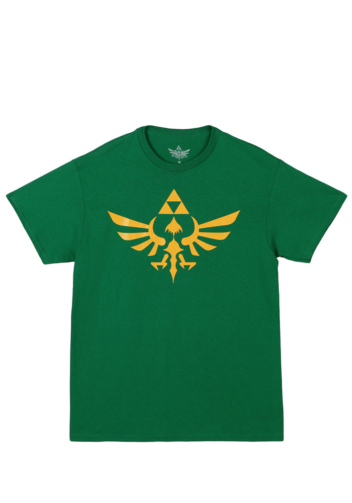 LEGEND OF ZELDA Triumphant Triforce Logo T-Shirt - Green