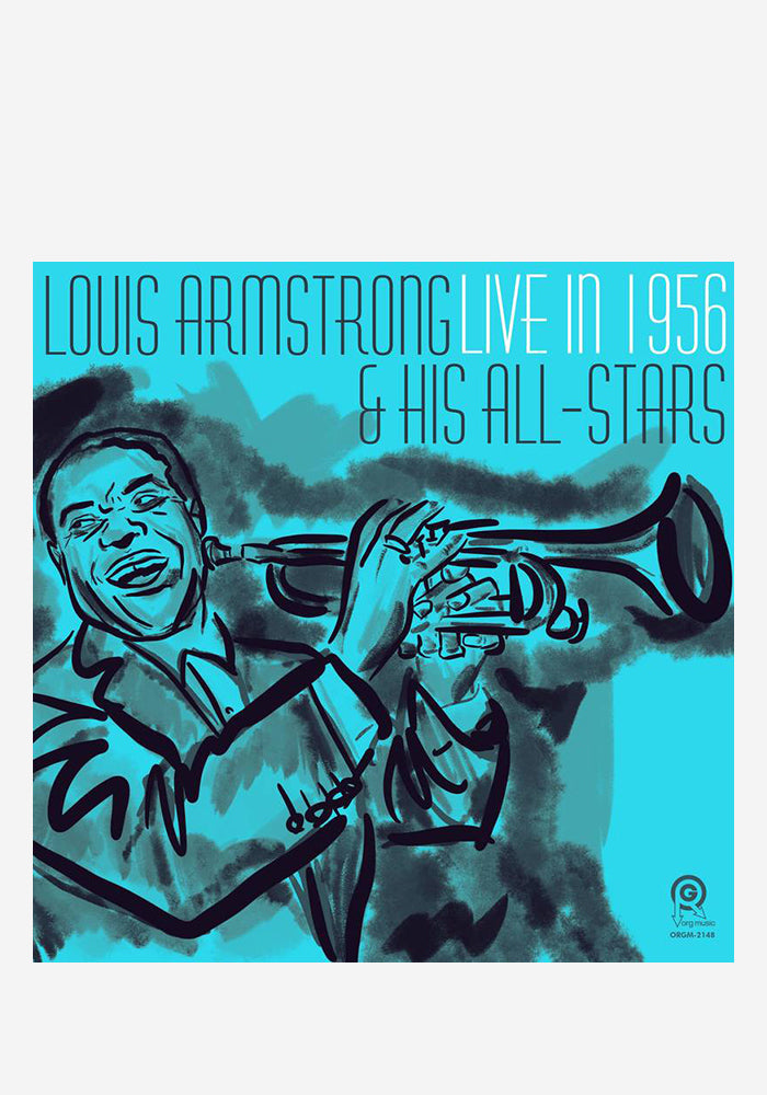 LOUIS ARMSTRONG & HIS ALL-STARS Live In 1956 LP (Color)