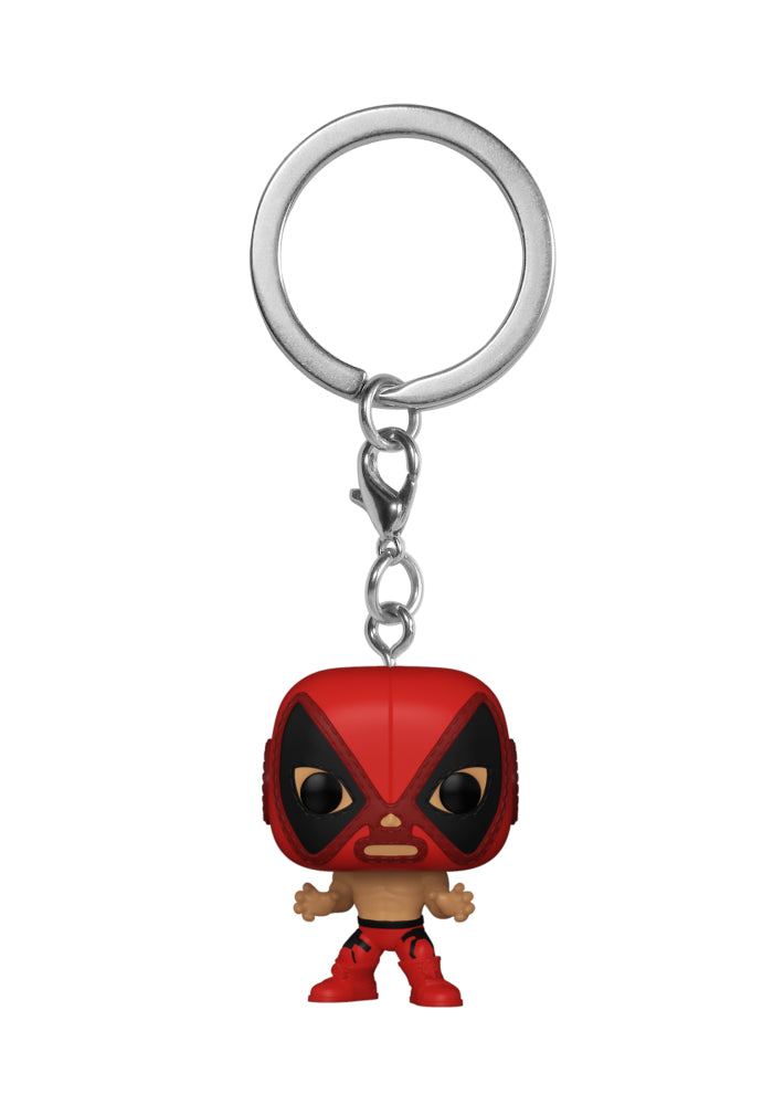 MARVEL Funko Pocket Pop! Keychain: Marvel Luchadores - El Chimichanga De La Muerte (Deadpool)