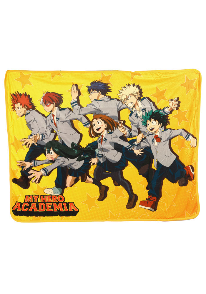 MY HERO ACADEMIA Quirks Group Running Fleece Blanket