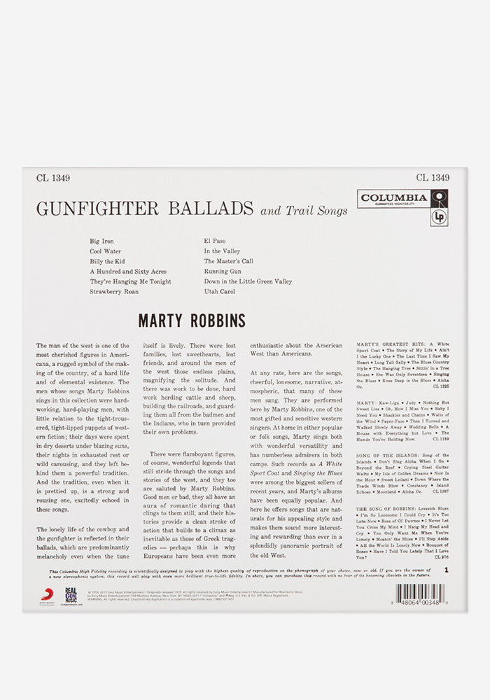 MARTY ROBBINS Gunfighter Ballads And Trail Songs Exclusive LP