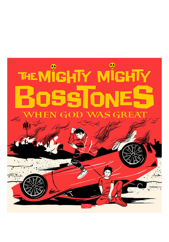 THE MIGHTY MIGHTY BOSSTONES When God Was Great LP With Autographed Postcard