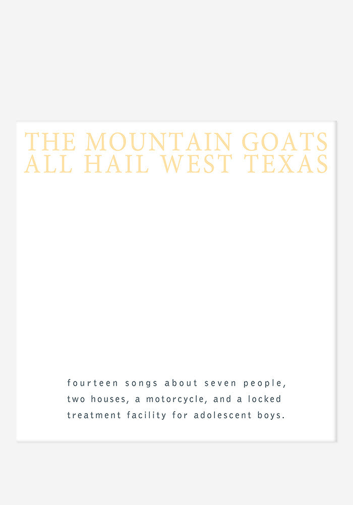 THE MOUNTAIN GOATS All Hail West Texas LP