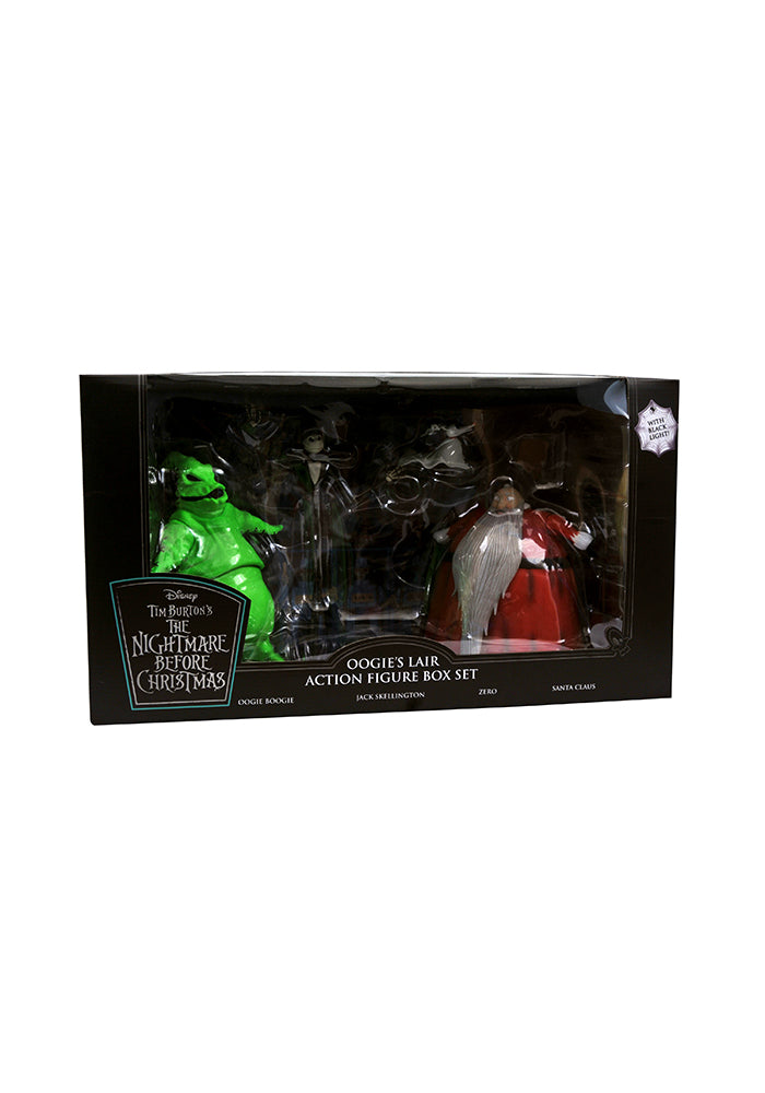 NIGHTMARE BEFORE CHRISTMAS Oogie's Lair Deluxe Lighted Action Figure Box Set SDCC 2020 PX Exclusive