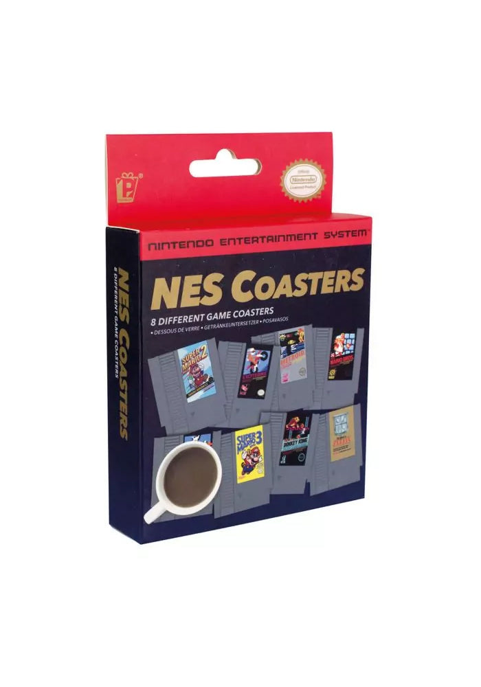 NINTENDO NES Cartridge Coasters Set