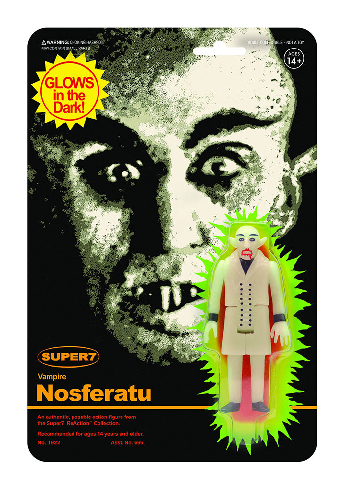 NOSFERATU Nosferatu Count Orlok ReAction Figure - Glow-In-The-Dark