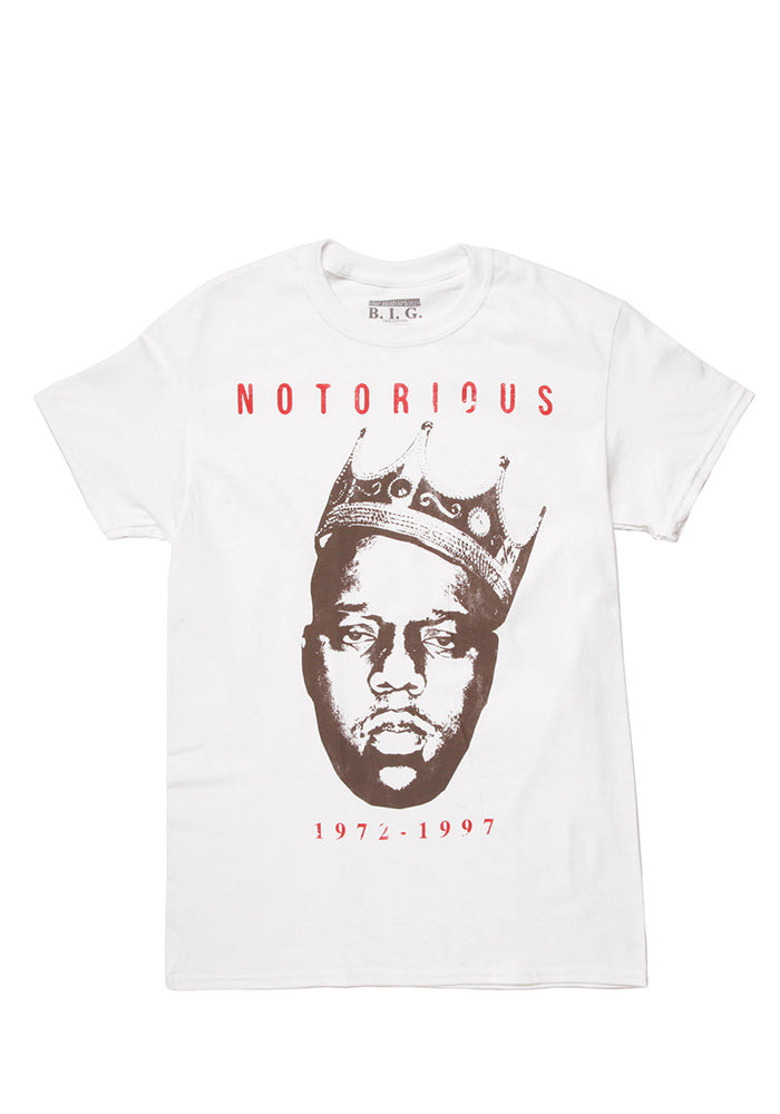 NOTORIOUS B.I.G. Biggie Smalls Crown T-Shirt