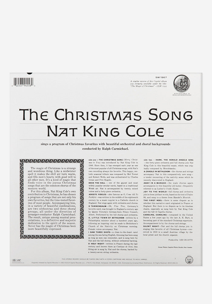 NAT KING COLE Christmas Song Exclusive LP