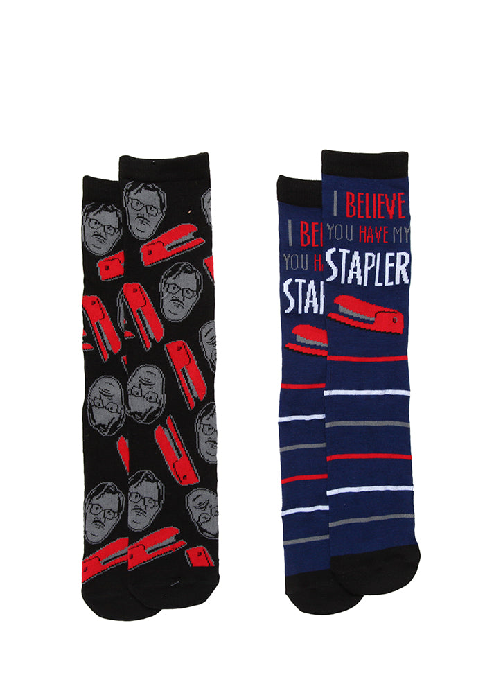 OFFICE SPACE Milton I Believe You Have My Stapler Socks 2-Pack
