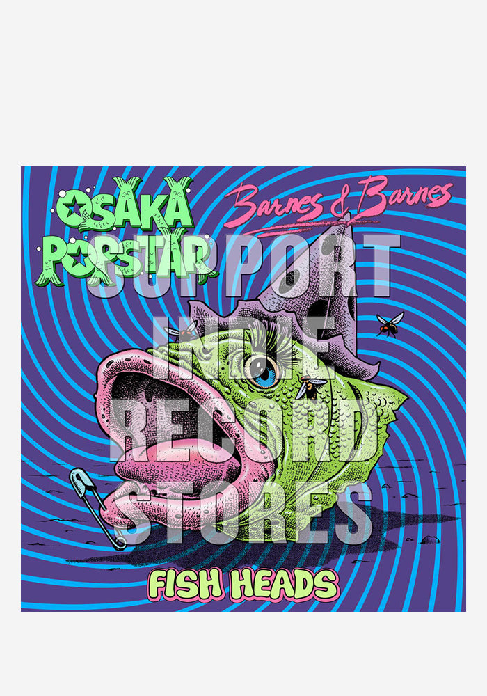 "OSAKA POPSTAR / BARNES & BARNES Fish Heads 12"" Single (Color)"