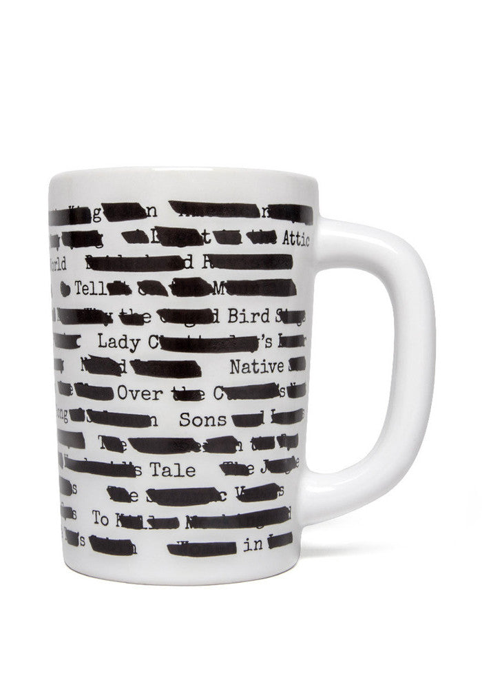 OUT OF PRINT Banned Books Heat Reactive Censored Mug