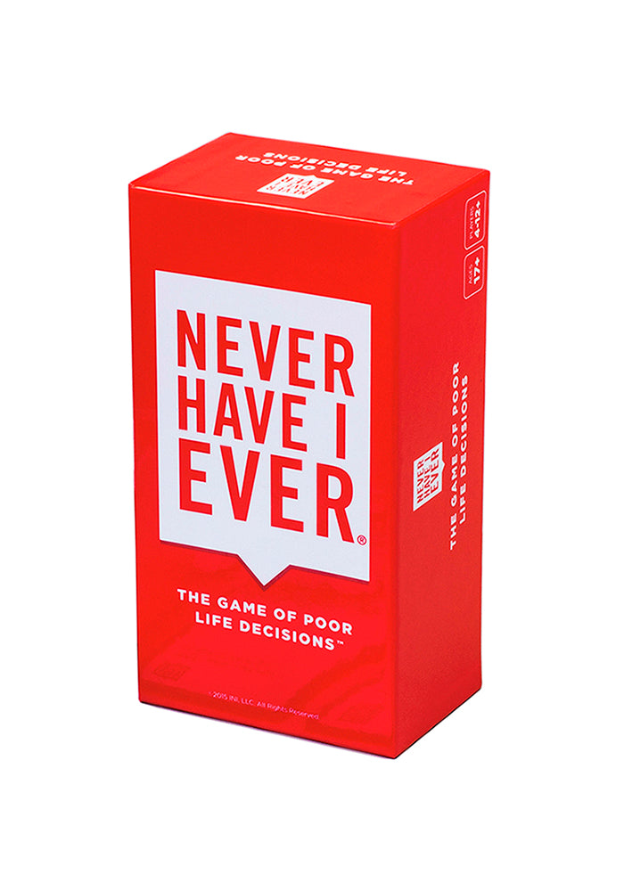 PARTY GAMES Never Have I Ever: The Game Of Poor Life Decisions Party Game