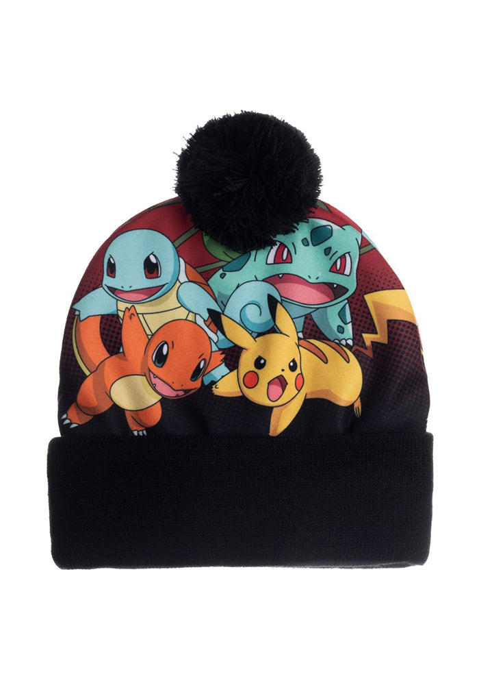 POKEMON Pokemon Sublimated Crown Pom Beanie