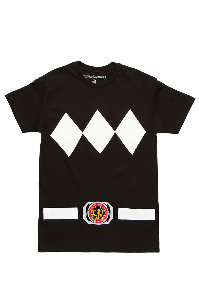 POWER RANGERS Black Ranger Costume T-Shirt