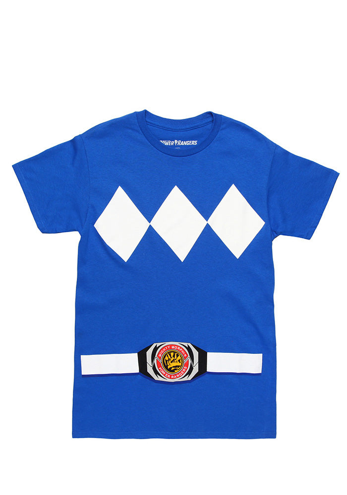 POWER RANGERS Blue Ranger Costume T-Shirt