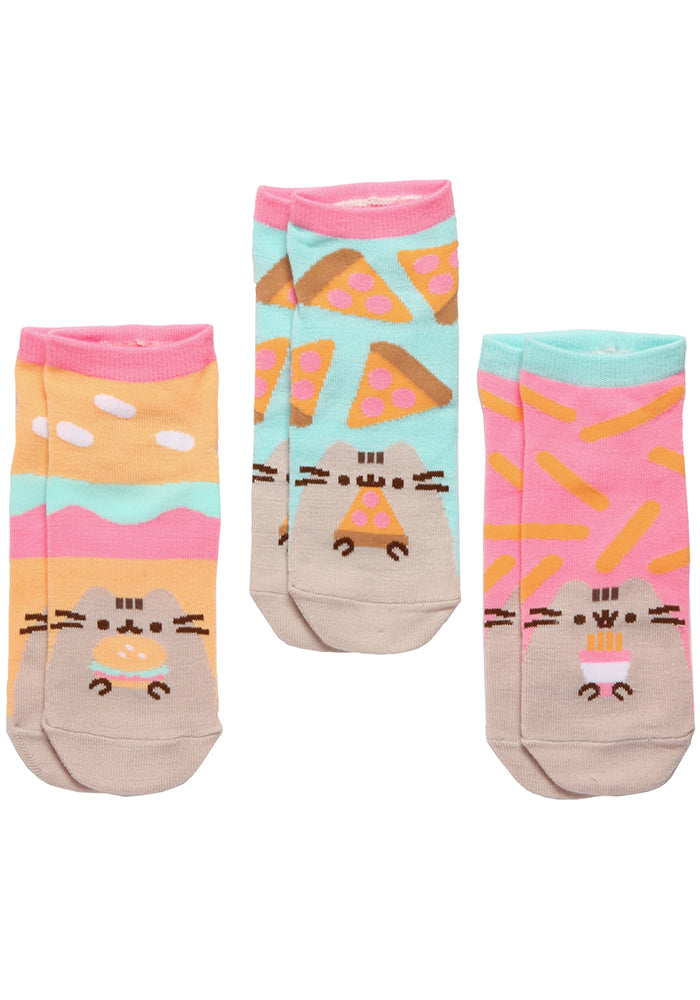 PUSHEEN Pusheen Fast Food Women's Ankle Socks 3-Pack