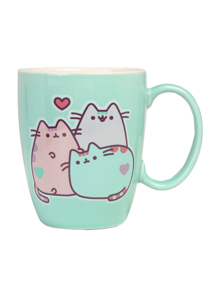 PUSHEEN Pastel Three Cat Mug