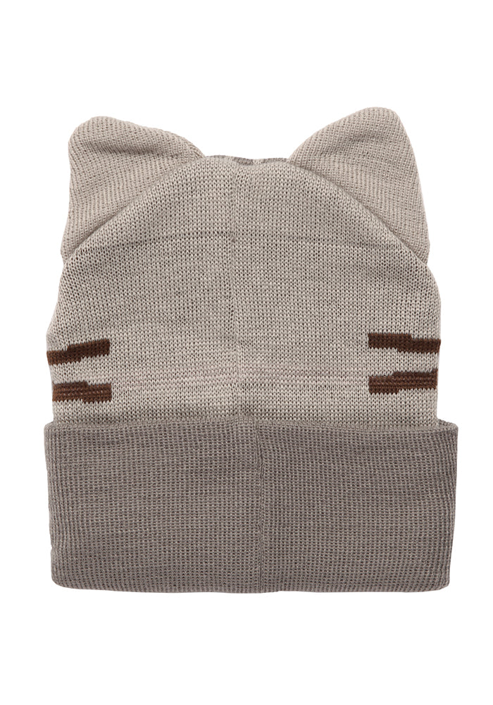 PUSHEEN Pusheen The Cat Smiling Face Cuff Beanie With Ears