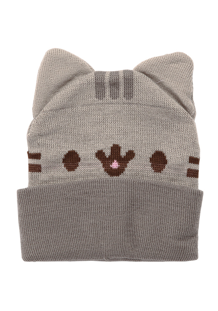 79f93f9b7fb PUSHEEN-Pusheen The Cat Smiling Face Cuff Beanie With Ears