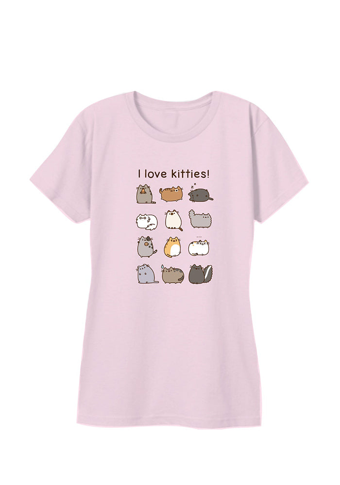 PUSHEEN Pusheen I Love Kitties Women's T-Shirt - Pink