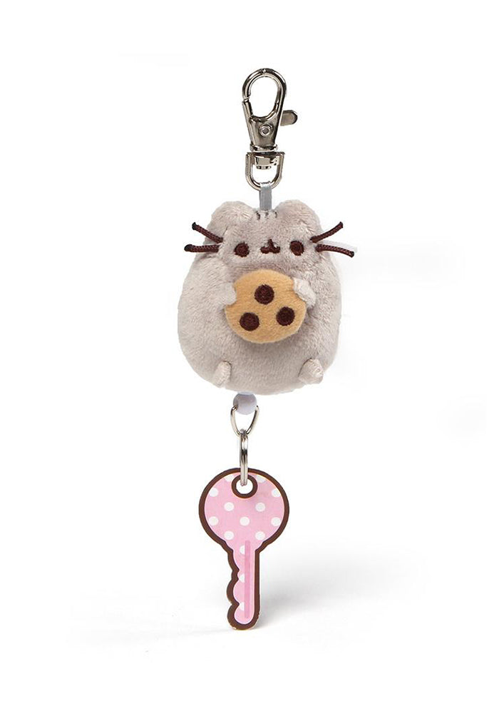 PUSHEEN Pusheen With Cookie Plush Retractable Keychain