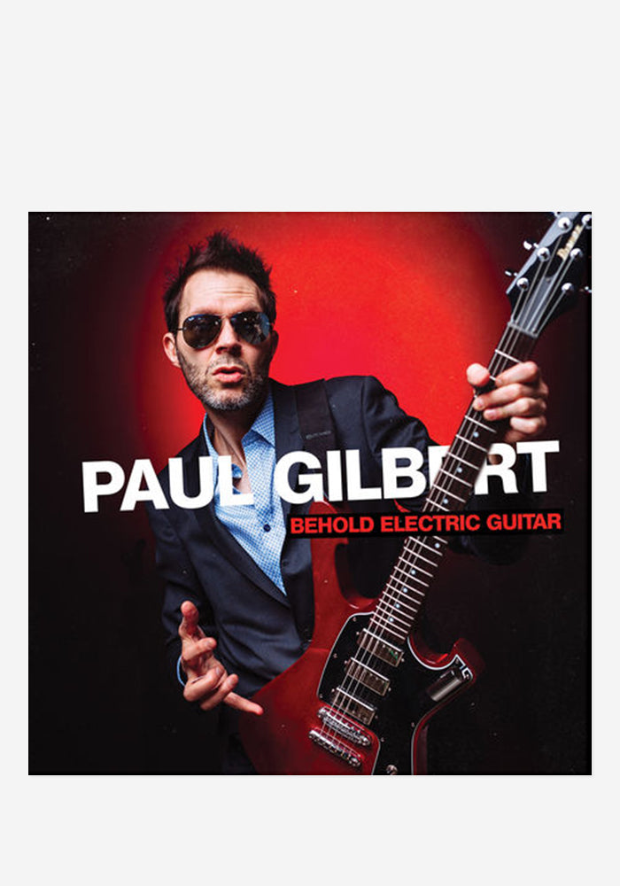 PAUL GILBERT Behold Electric Guitar CD With Autographed Postcard
