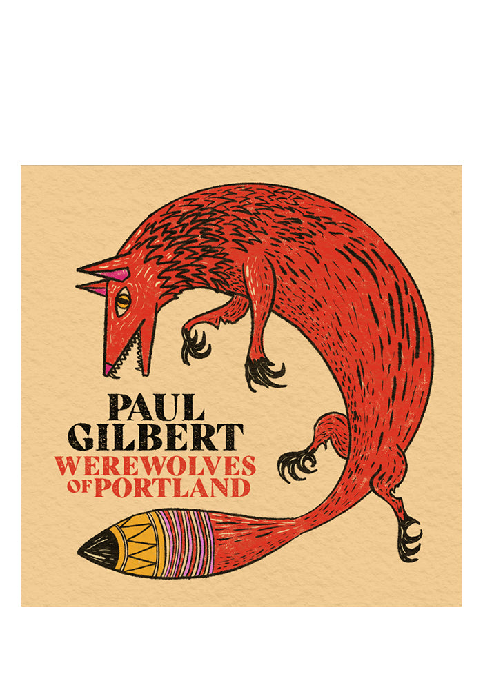 PAUL GILBERT Werewolves Of Portland LP (Color) With Autographed Postcard