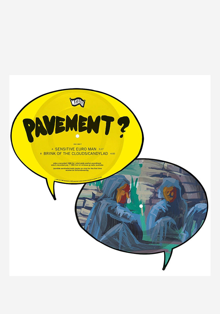PAVEMENT Sensitive Euro Man / Brink Of The Clouds / Candylad Die-Cut Single